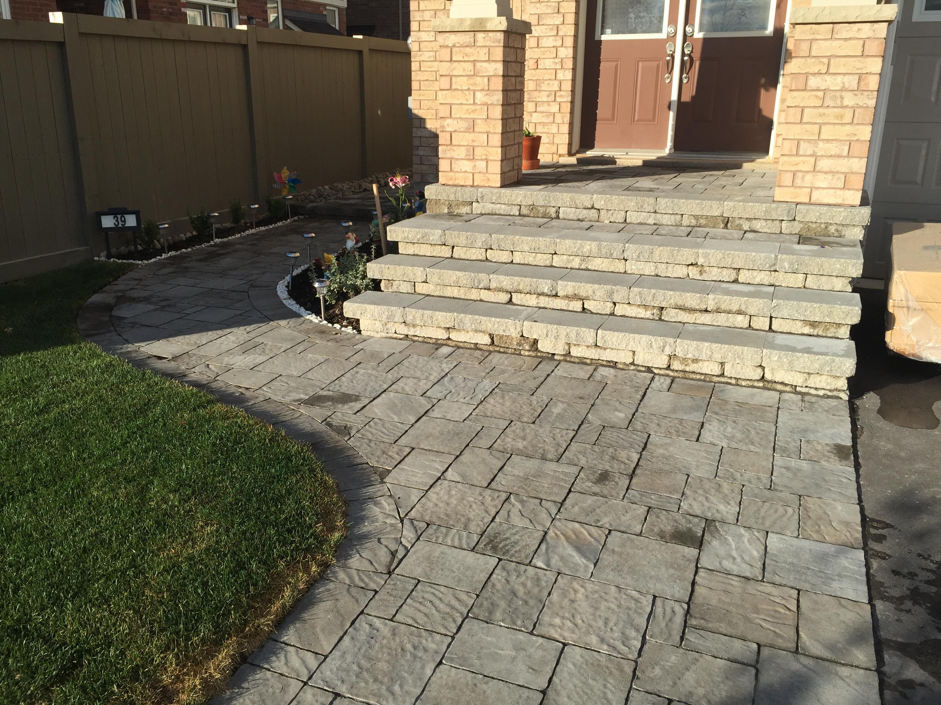 Front Walkway Stone Steps and Walkway
