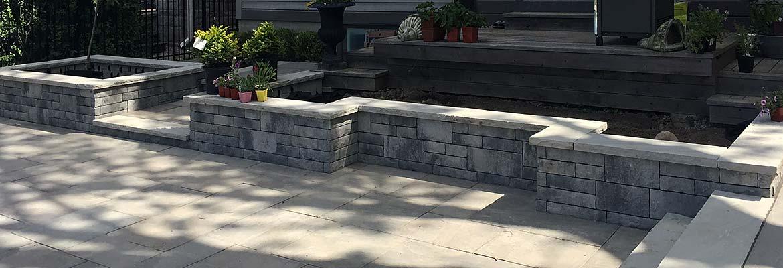 Stone Retaining Wall Installation in Milton