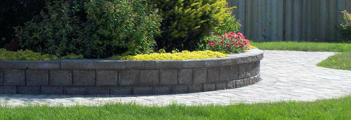 Stone Retaining Wall Installation in Milton