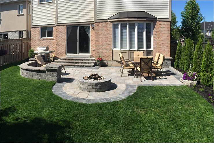 Interloc Backyard Patio Installation - Project