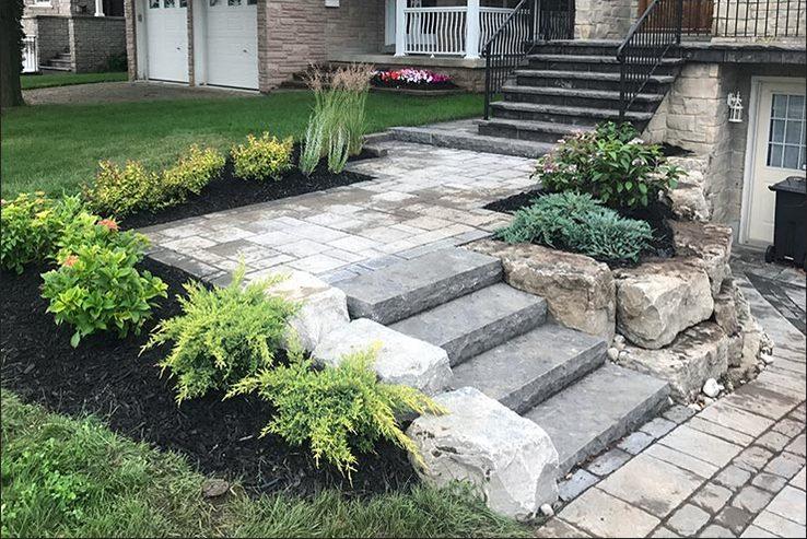 Interloc Stairs, Steps & Porch Installations